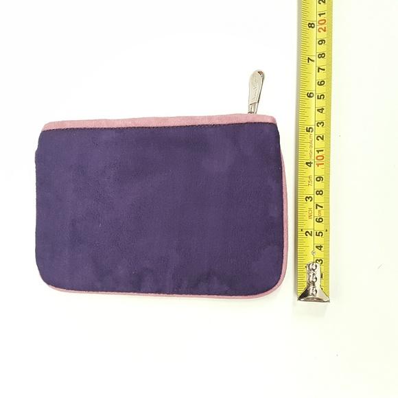 Hilary London Handbags - Hilary London Suede clutch makeup purse  PURPLE